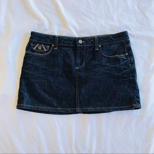 Paige Fairfax Denim Mini Skirt Size 30